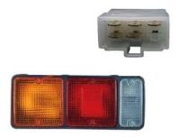 Фото фонарь задний mitsubishi canter '85-'99 (214-1903) левый стоп-сигнал