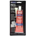 герметик прокладок abro red rtv silicone gasket maker 11-ab-r, красный (85гр)