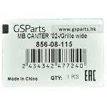 Фото решетка радиатора gsparts 856-08-115 - mitsubishi fuso canter '02-'11, широкая. решетка радиатора