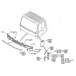 Фото решетка радиатора dossun hn04-08a2-00 - hino ranger '98-'02 (широкая) решетка радиатора