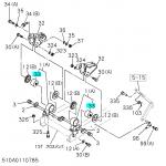Фото сайлентблок кабины zevs bc6361 - isuzu forward (ø16x70) втулки и сайлентблоки