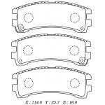 Фото колодки тормозные дисковые kashiyama d1102m (a-266, a-213) колодки дисковые