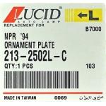 молдинг светоотражатель над фарой lucid 213-2502l-c -  isuzu-elf '94-'05 (левый, белый)