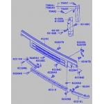 решетка радиатора tong yang mb07057gb (ty-mc917772) - mitsubishi fuso '92-'94 (нижняя)