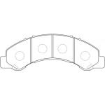 Фото колодки тормозные дисковые masuma ms-4464 (a-617) колодки дисковые