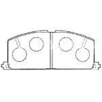 Фото колодки тормозные дисковые masuma ms-1077c (a-113) колодки дисковые