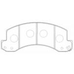 Фото колодки тормозные дисковые cac friction pf-4489 (a-648) колодки дисковые