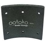 Фото тормозные накладки ootoko 1611l04 (320-1300). 8 шт. с клепками колодки барабанные