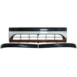 решетка радиатора silver light (zevs) 03-4412 - mitsubishi canter '94-'04 широкая кабина