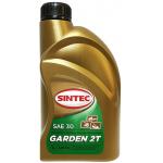 Фото масло для двухтактных двигателей sintec garden 2t sae 30 api tc (1л) моторные масла