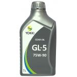 масло трансмиссионное yokki gear oil gl-5 75w-90 (1л)