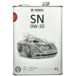 масло моторное yokki premium sn ilsac gf-5 0w-20 (4 л)