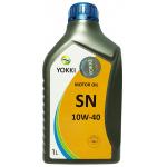 Фото масло моторное yokki sn/cf 10w-40 1л моторные масла