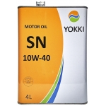 Фото масло моторное yokki sn/cf 10w-40 4л моторные масла