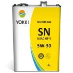 Фото масло моторное yokki sn ilsac gf-5 5w-30 4 литра моторные масла