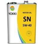 Фото масло моторное yokki sn/cf 5w-40 (4l) моторные масла