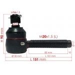 Фото рулевой наконечник zevs 1-43150-680-0 - isuzu forward левый рулевые наконечники