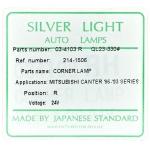 Фото габаритный фонарь silver light 034103r (zevs 214-1506r) - mitsubishi canter '86-'93 правый габарит / поворотник