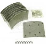 Фото тормозные накладки zevs z4101-1500 (ibk t410-1500) 8 шт. с клепками колодки барабанные