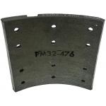 Фото тормозные накладки zevs z3204-1450 (8 шт. с клепками) колодки барабанные
