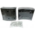 Фото тормозные накладки emic t320-1202 (8 шт. с клепками) колодки барабанные