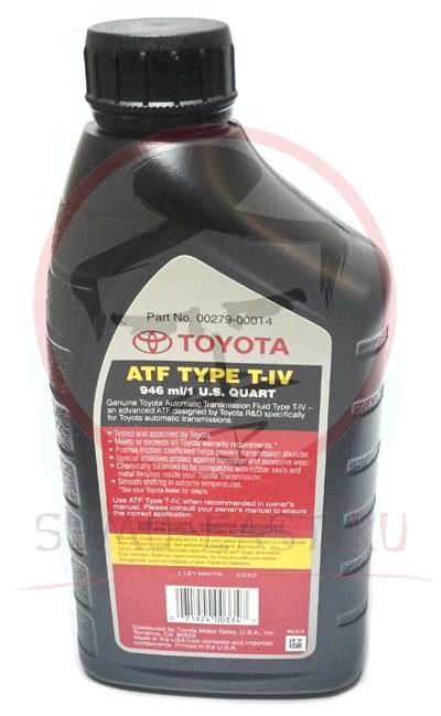 Масло трансмиссионное Toyota ATF T-IV (1л)