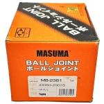 Фото шаровая опора masuma mb-2381 (43350-29076) верхняя шаровые опоры