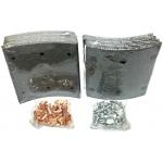 Фото тормозные накладки ootoko 1611l05 (t320-1350) 8 шт. с клепками колодки барабанные