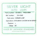 Фото габарит silver light 214-1543l - mitsubishi canter '94-'04, левый габарит / поворотник
