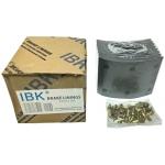 Фото тормозные накладки t320-1101. ibk (8 шт, с клепками) колодки барабанные