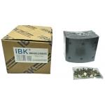 Фото тормозные накладки ibk t320-1300. (8 шт. с клепками) колодки барабанные
