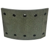 Фото тормозные накладки asuki al-6401f (410-1401) 8 шт. с клепками колодки барабанные