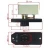 Фото резистор (реостат) отопителя denso 146810-9142 (mc140043) резистор