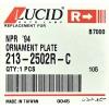 молдинг над фарой lucid 213-2502r-c -  isuzu elf '94-'05 (правый, белый)