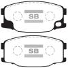 Колодки тормозные дисковые Sangsin Brake Hi-Q SP1485 (A-476)