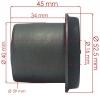 Фото сайлентблок рессоры schmaco siz-02008 - isuzu elf (ø16x40) (половинка) втулки и сайлентблоки