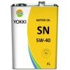 Масло моторное Yokki SN/CF 5W-40 (4l)