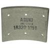 Тормозные накладки 320-1151. Asuki ANL-1151R (8 шт. С клепками)