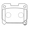 Колодки тормозные дисковые Nisshinbo PF-1361 (A-436)