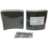 Фото тормозные накладки ibk t320-1400-10. (8 шт. с клепками) колодки барабанные