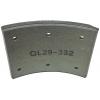 Фото тормозные накладки rca ibk gl z3206-1101 (t320-1101) 8 шт, с клепками колодки барабанные
