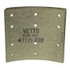Фото тормозные накладки 320-1450. vetto. (8 шт. с клепками) колодки барабанные