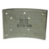 Фото тормозные накладки 410-1400. vetto. (8шт. с клепками) колодки барабанные