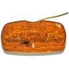 Габаритный фонарь Zevs 12005 на полуприцеп. Прямоугольный, оранжевый.