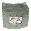 Фото тормозные накладки 410-1501. vetto. (8 шт. с клепками) колодки барабанные