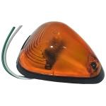 Фото габаритный фонарь zevs 12003 на полуприцеп. треугольный, оранжевый. бортовые габариты