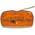 Фото габаритный фонарь zevs 12005 на полуприцеп. прямоугольный, оранжевый. бортовые габариты