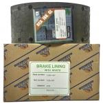 Фото тормозные накладки rca ibk gl (zevs) z3204-1207. комплект на ось, с клепками. колодки барабанные