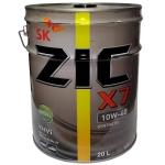 масло моторное zic x7 10w-40 diesel (20л)