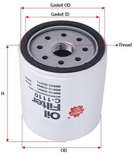 sakura c-1110 (c-111) 1110 fuel filter